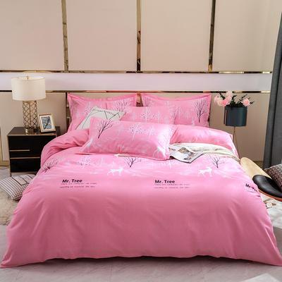 2019新款-全棉磨毛四件套 床单款1.8m(6英尺)床 漫森