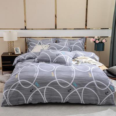 2019新款-全棉磨毛四件套 床单款1.8m(6英尺)床 欧典