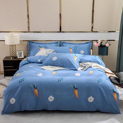 2019新款-全棉磨毛四件套 床单款1.8m(6英尺)床 趣味生活