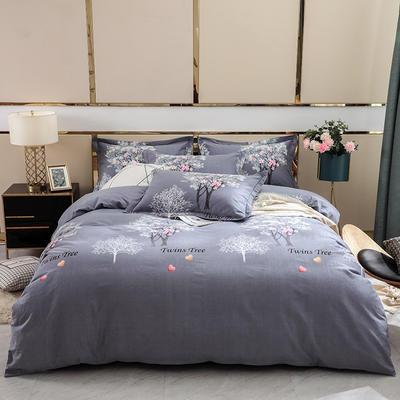 2019新款-全棉磨毛四件套 床单款1.8m(6英尺)床 昕薇