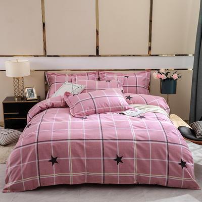 2019新款-全棉磨毛四件套 床单款1.8m(6英尺)床 星尚