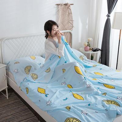 2019新款-水洗棉隔脏睡袋 青柠檬120*220cm
