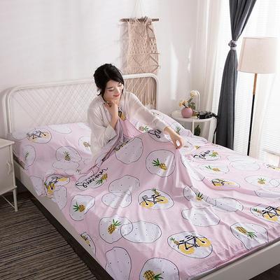 2019新款-水洗棉隔脏睡袋 小菠萝120*220cm