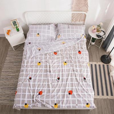 2019新款-水洗棉隔脏睡袋 草莓格160*220cm