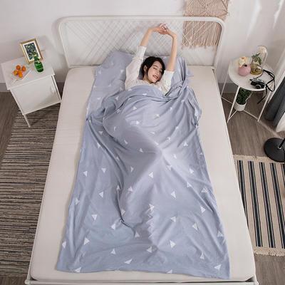 2019新款-水洗棉隔脏睡袋 慢时光180*220cm