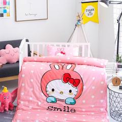 鱼宝 幼儿园大版花三件套(不含芯) 枕套30X50cm 微笑猫咪