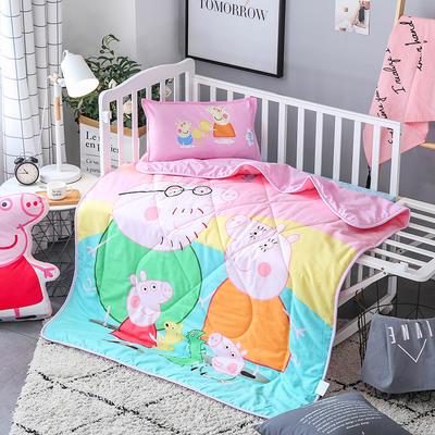 2018全棉大版花儿童夏被 单独枕套(含枕芯) 佩奇一家