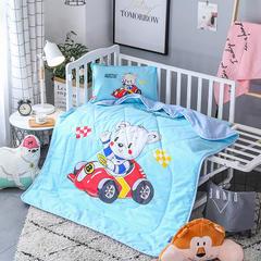 2018全棉大版花儿童夏被 单独枕套(含枕芯) 赛车熊