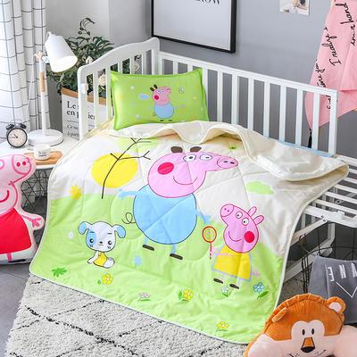 2018全棉大版花儿童夏被 单独枕套(含枕芯) 小猪佩奇 绿