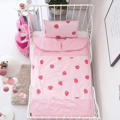 2018爆款儿童睡袋防踢被 草莓甜心90*150睡袋皮子