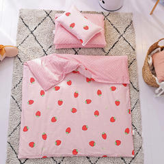 全棉幼儿园三件套 六件套 儿童套件 幼儿园被子 三件套 草莓甜心
