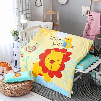 2019新款全棉大版花幼儿园单品被套 120x150cm 丛林狮子