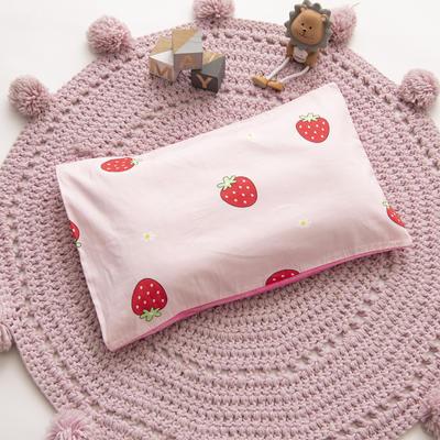 2019新款YB棉加绒枕头(30*50cm) 枕套+珍珠棉枕芯 草莓甜心