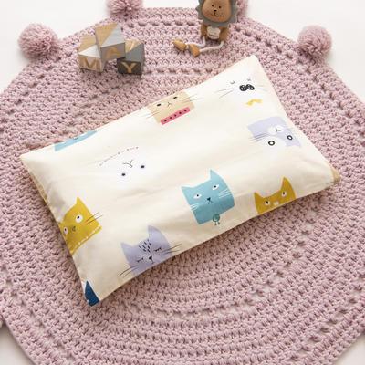 2019新款YB棉加绒枕头(30*50cm) 枕套+珍珠棉枕芯 多彩猫
