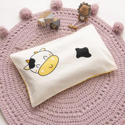 2019新款YB棉加绒枕头(30*50cm) 枕套+珍珠棉枕芯 小奶牛