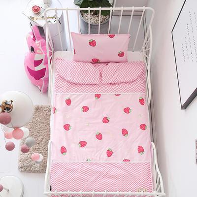 2019新款全棉款睡袋(模特图)-90*150 草莓甜心(睡袋皮子)