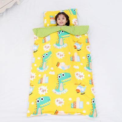 2019新款全棉款睡袋(模特图)-90*150 恐龙奇奇(棉花薄)