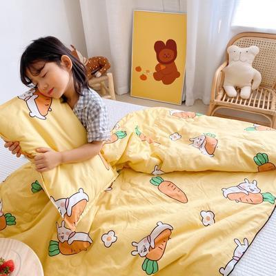 2020新款40贡缎全棉儿童夏被 115x150cm 萝卜兔