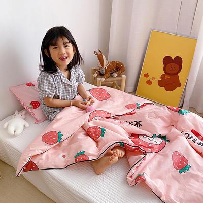 2020新款40貢緞全棉兒童夏被 115x150cm 北海道草莓