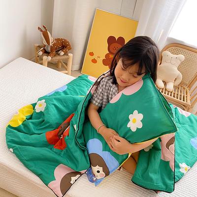 2020新款40貢緞全棉兒童夏被 115x150cm 花娃娃