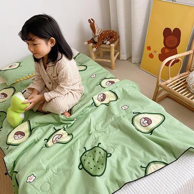 2020新款40貢緞全棉兒童夏被 115x150cm 加油果