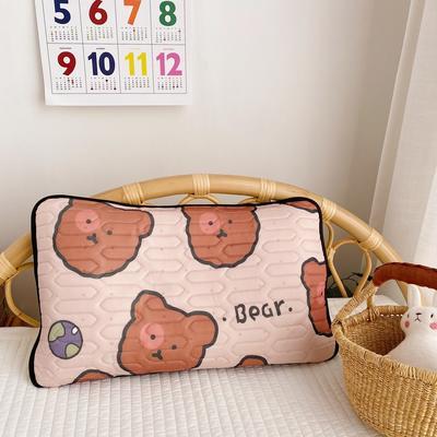 2020新款儿童凉感丝乳胶枕可拆卸 饼干熊30*50cm