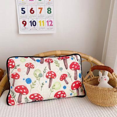 2020新款儿童凉感丝乳胶枕可拆卸 蘑菇30*50cm