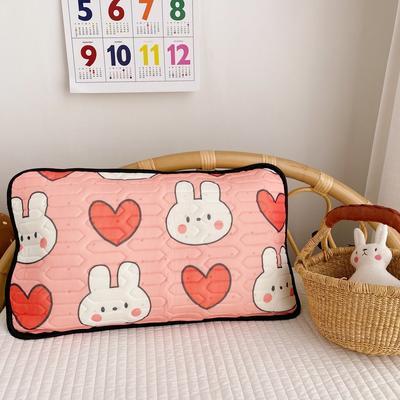 2020新款儿童凉感丝乳胶枕可拆卸 爱心兔40*60cm