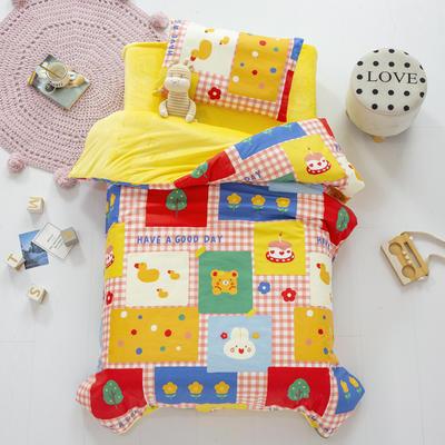 2020新款-幼儿园棉加绒印花套件小版 三件套 彩色拼图