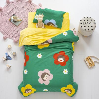 2020新款-幼儿园棉加绒印花套件小版 单被套 花娃娃