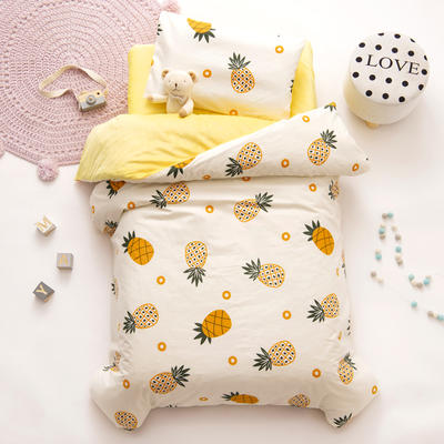 2020新款-幼儿园棉加绒印花套件小版 单被套 小菠萝