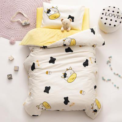 2020新款-幼儿园棉加绒印花套件小版 单被套 小奶牛
