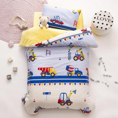 2020新款-幼儿园棉加绒印花套件小版 单被套 小小挖掘机