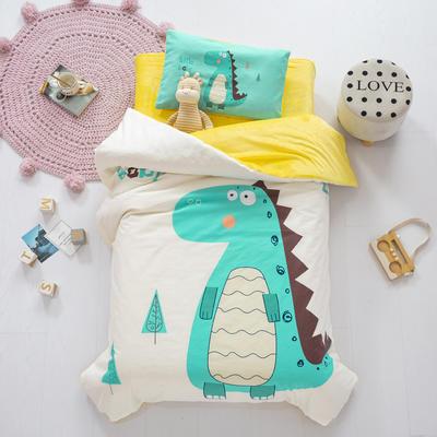2020新款-幼儿园棉加绒印花套件大版 单被套 大恐龙