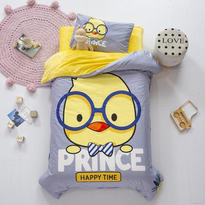 2020新款-幼儿园棉加绒印花套件大版 单被套 快乐小鸡