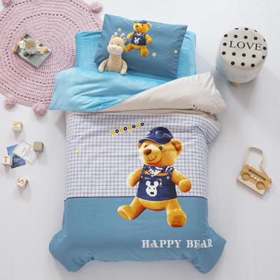 2020新款-幼儿园棉加绒印花套件大版 单被套 熊先生