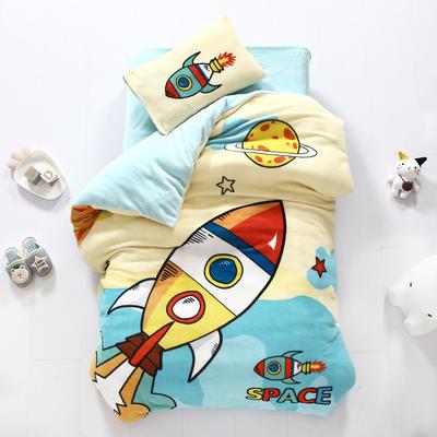2020新款-大版牛奶绒婴童套件 三件套 快乐火箭
