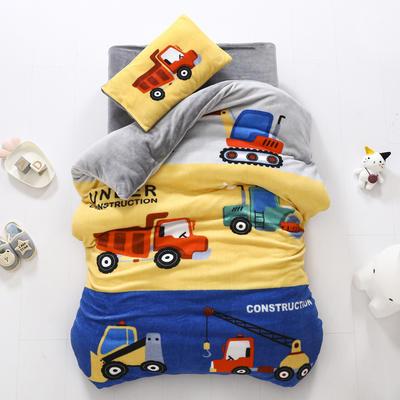2020新款-大版牛奶绒婴童套件 三件套 梦想车队