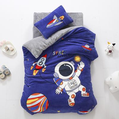 2020新款-大版牛奶绒婴童套件 三件套 宇航员