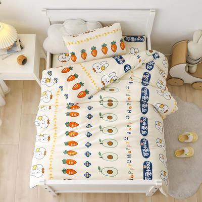 2020新款小版牛奶绒1.2*1.5m婴童套件多件套系列 三件套 可爱萝卜