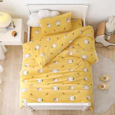 2020新款小版牛奶绒1.2*1.5m婴童套件多件套系列 三件套 萝卜兔