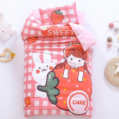 2021A类数码印花婴童套件 套餐二    2斤丝绵芯六件套 草莓女孩