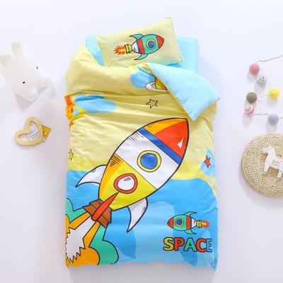 2021A类数码印花婴童套件 套餐二    2斤丝绵芯六件套 快乐火箭