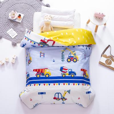 2021全棉无荧光幼儿园套件 2斤丝棉款六件套 小小挖掘机