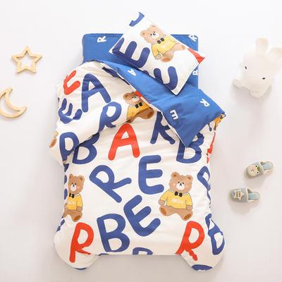 2021全棉无荧光幼儿园套件 3斤丝棉款六件套 字母熊