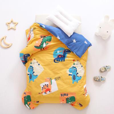 2021全棉无荧光幼儿园套件 3斤丝棉款六件套 涂鸦恐龙 黄