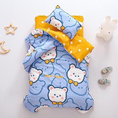 2021全棉无荧光幼儿园套件 3斤丝棉款六件套 领结熊