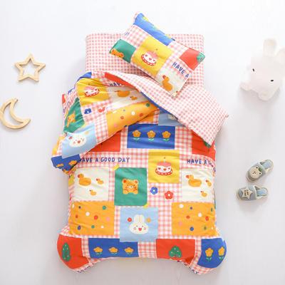 2021全棉无荧光幼儿园套件 3斤丝棉款六件套 彩色拼图