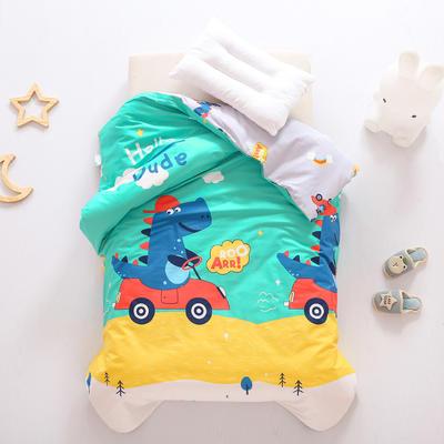 2021全棉无荧光幼儿园套件 3斤丝棉款六件套 恐龙开车