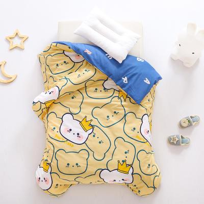 2021全棉无荧光幼儿园套件 3斤丝棉款六件套 皇冠熊